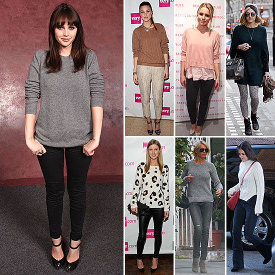 Celebrities&#039; Sweaters Winter 2012