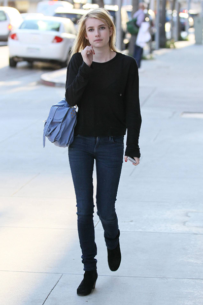 Emma Roberts was seen out in