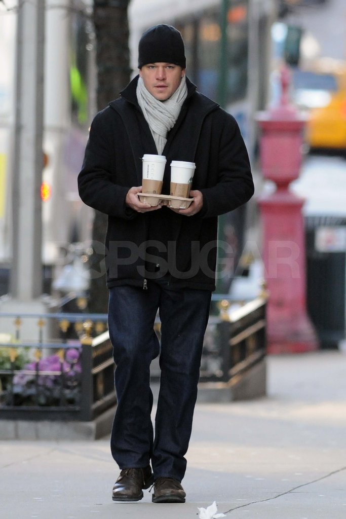 Matt Damon in NYC.