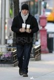 Matt Damon with coffee in hand.