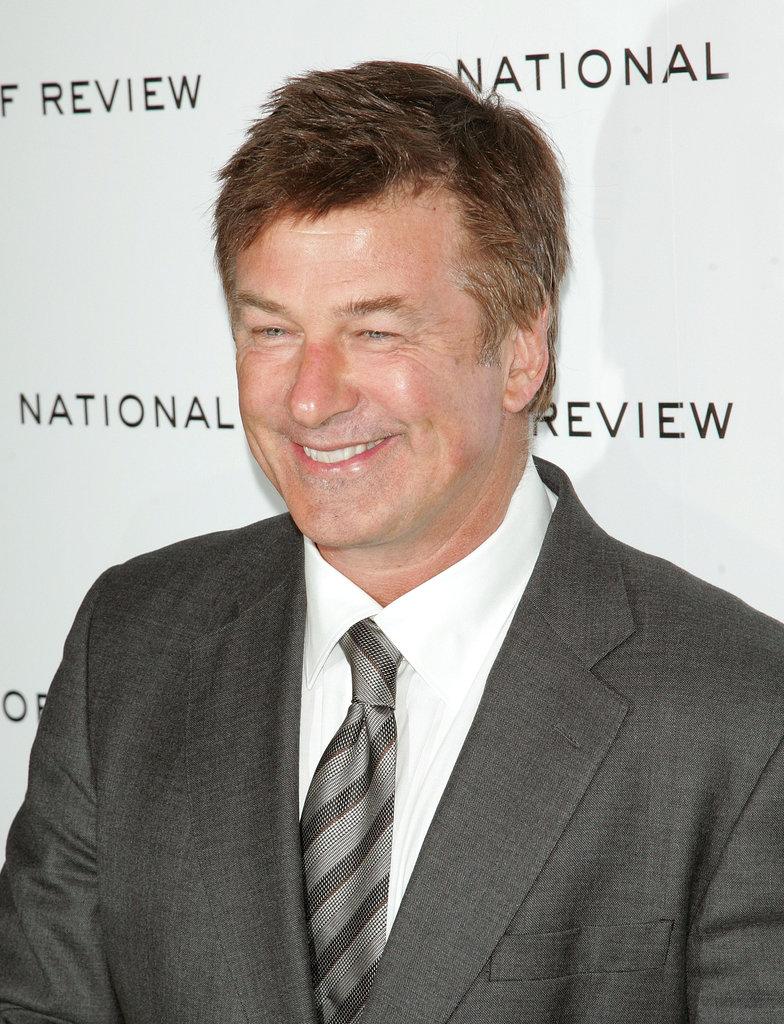 Alec Baldwin gave a winning smile on the black carpet.