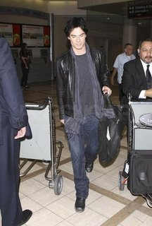 Ian Somerhalder Arriving at LAX Pictures
