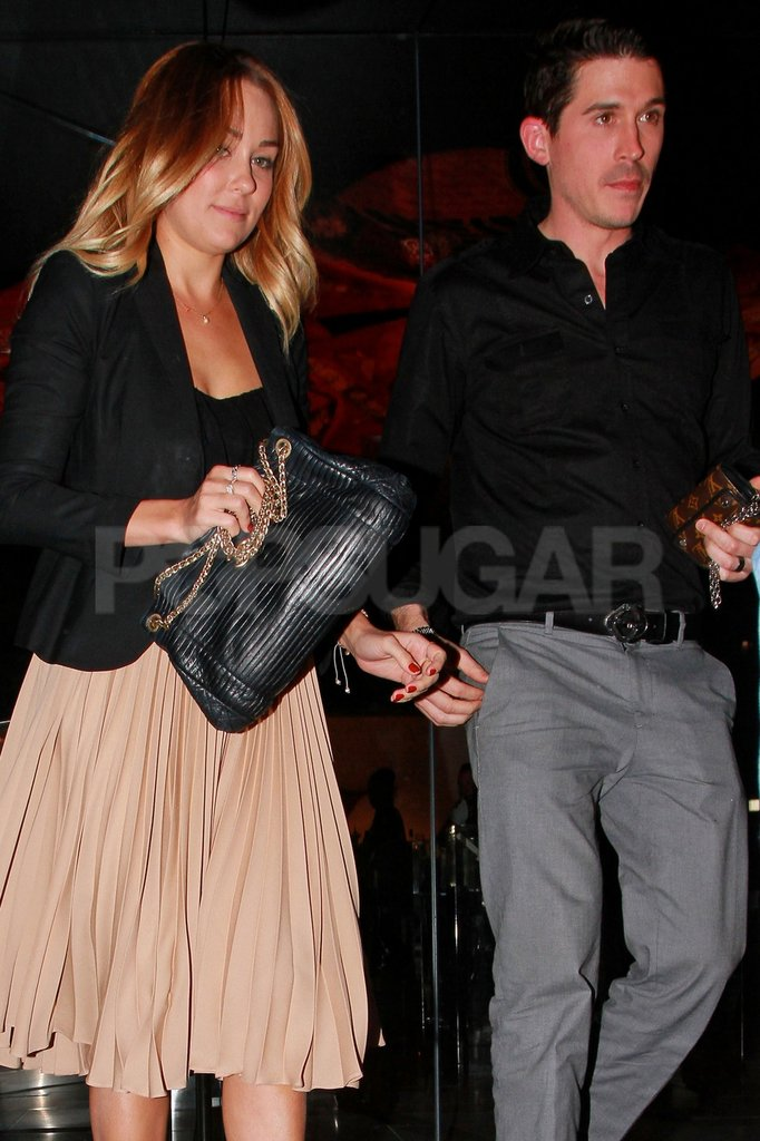 Lauren Conrad had dinner at Katsuya with a male friend.