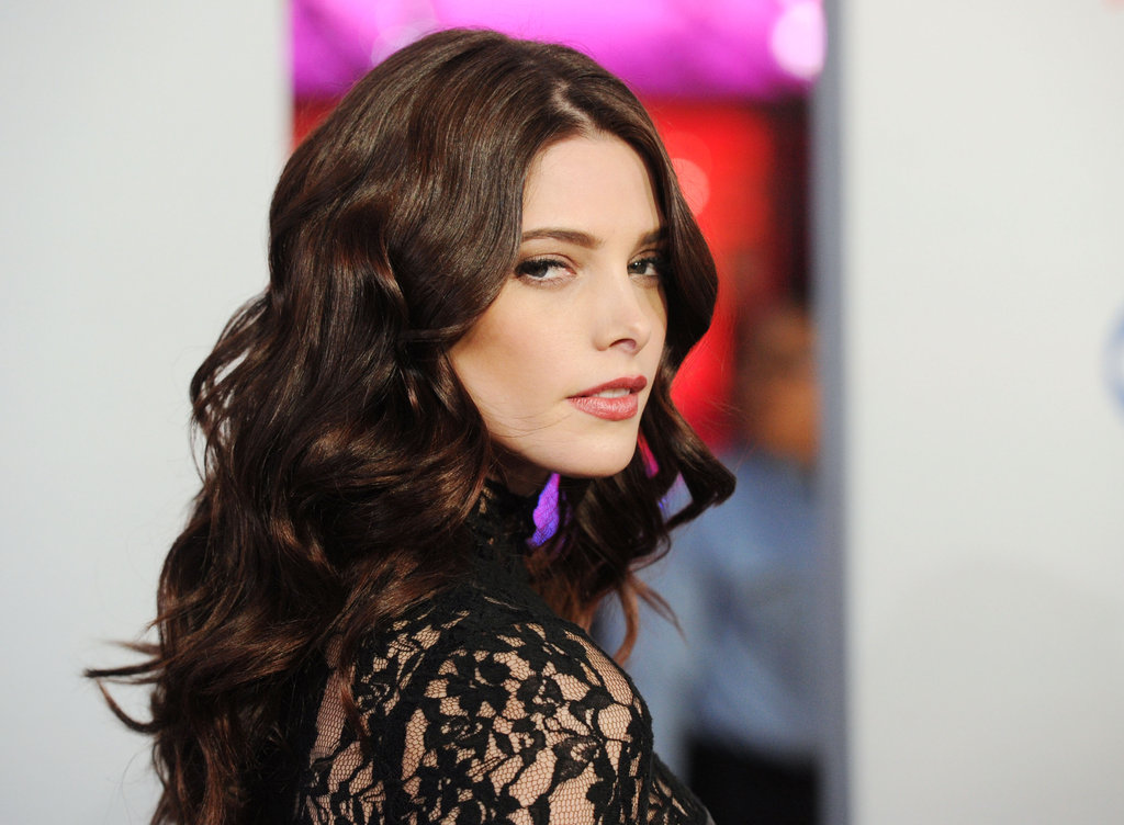 Ashley Greene gave a smokey stare.