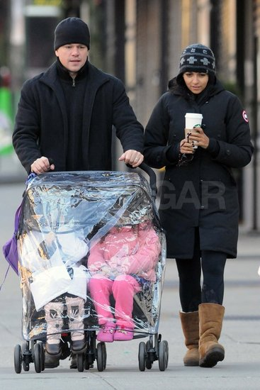 Matt Damon with Luciana Damon in NYC.