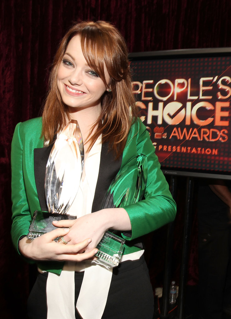 Emma Stone took home the People's Choice Award for favorite movie actress.