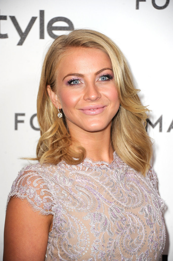 Julianne Hough returned from St. Barts for a Golden Globe event in LA.