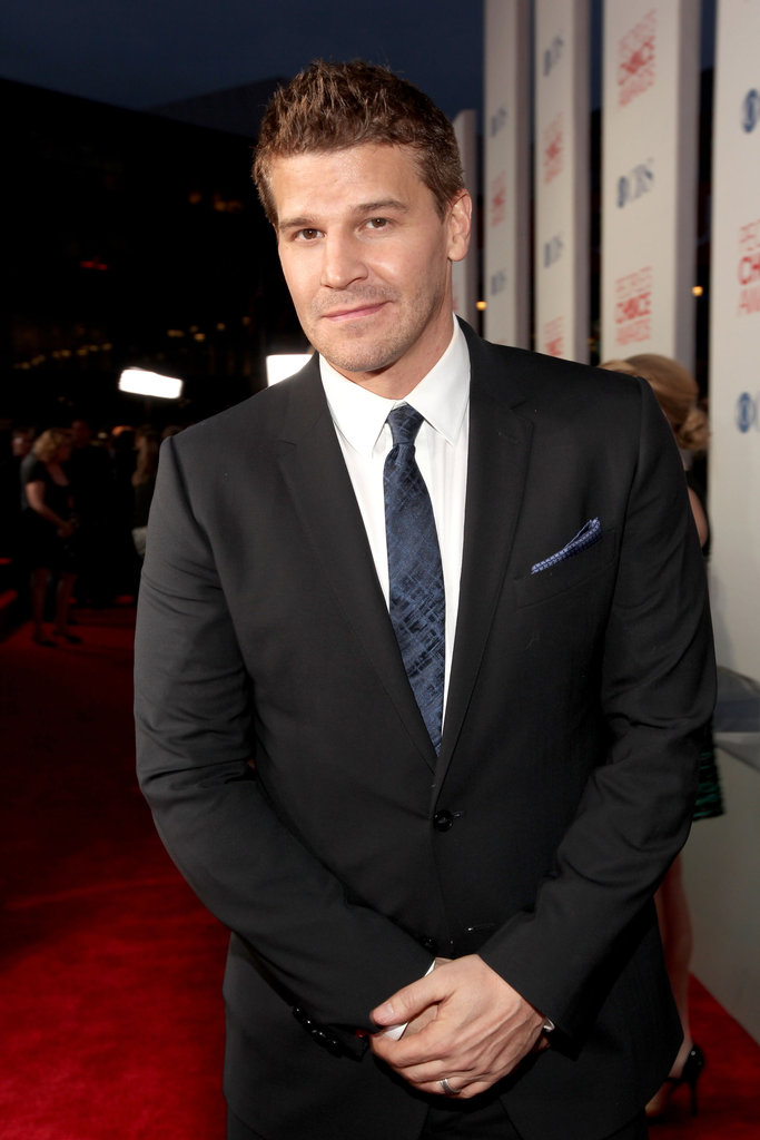 David Boreanaz gave the cameras a knowing look.