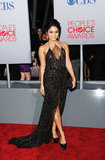 Vanessa Hudgens had a lace inset dress at the People's Choice Awards.