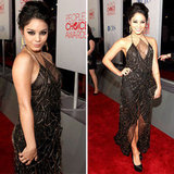 Pictures of Vanessa Hudgens in Sheer and Sexy Jenny Packham Dress at the 2012 People's Choice Awards