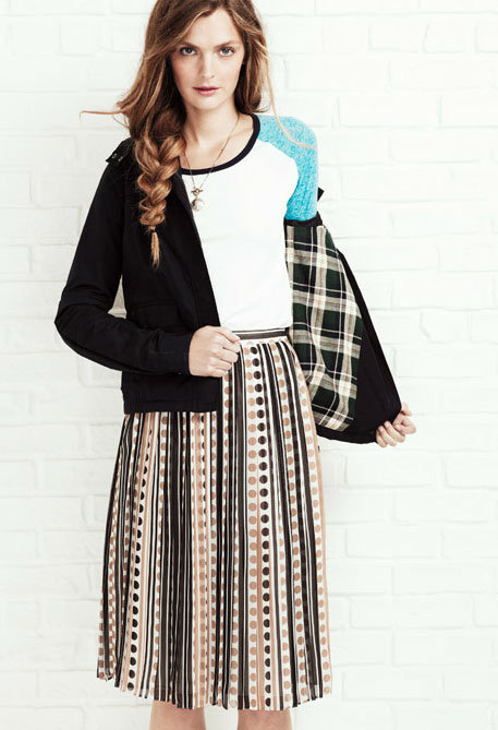 Opt for tomboy accents to give your girlish prints and pretty skirts a contrasting style note.  Shop the look