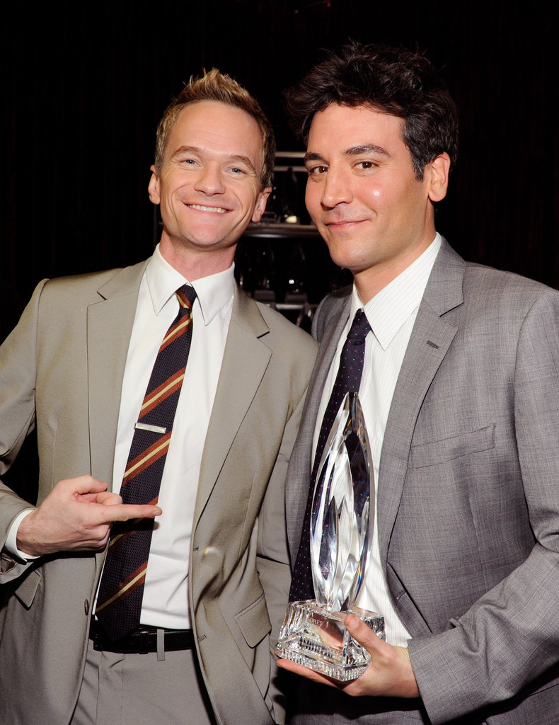How I Met Your Mother's Neil Patrick Harris and Jason Radnor pal around with their award.