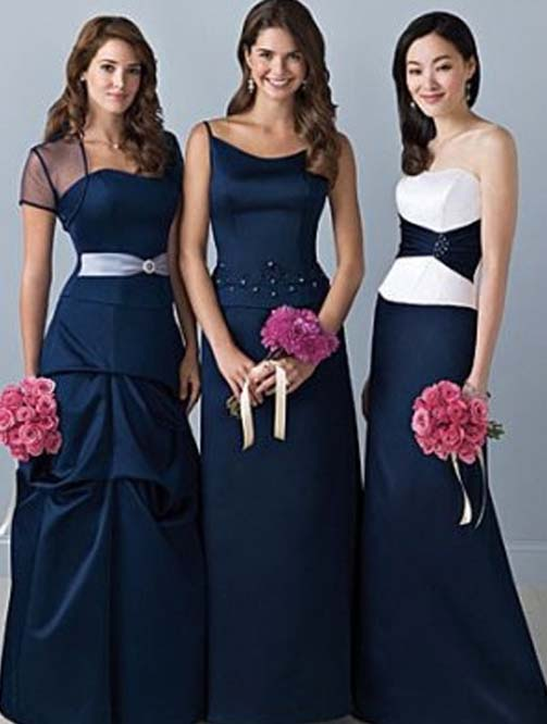 bridesmaid dresses with sleeves Blue Bridesmaid Dresses With Sleeves Photo 1