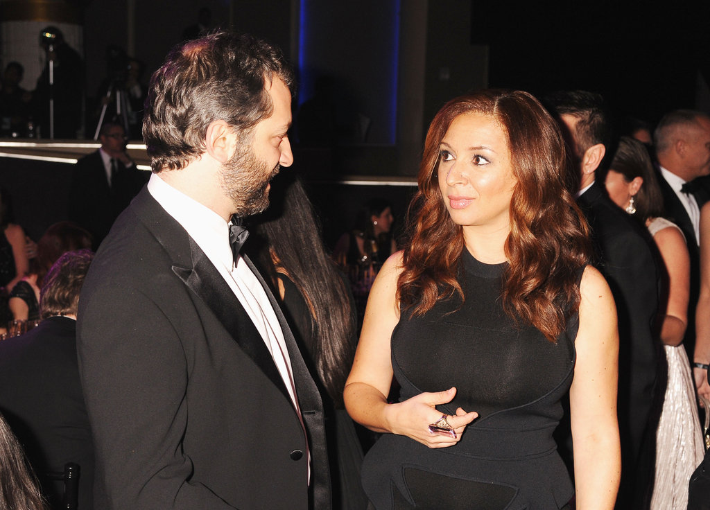 Judd Apatow and Maya Rudolph chatted at the Critics' Choice Movie Awards.