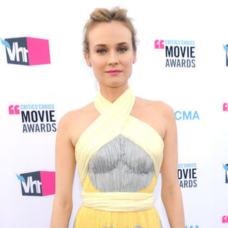 Diane Kruger Yellow and Gray Dress at Critics' Choice Awards