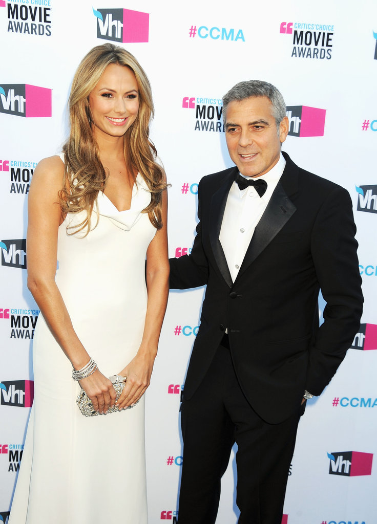 George Clooney put Stacy Keibler front and center at the Critics' Choice Movie Awards.