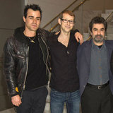 Justin Theroux was with Jason Baldwin and Joe Berlinger in LA.