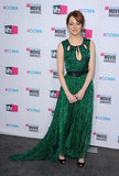Emma Stone spent another night in green, wearing Jason Wu to the Critics' Choice Movie Awards.
