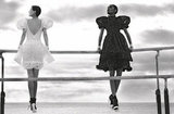 Frilly, puffed sleeve dresses pop up in Chanel's Spring '12 ads. Source: Fashion Gone Rogue
