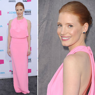 Jessica Chastain at Critics' Choice 2012