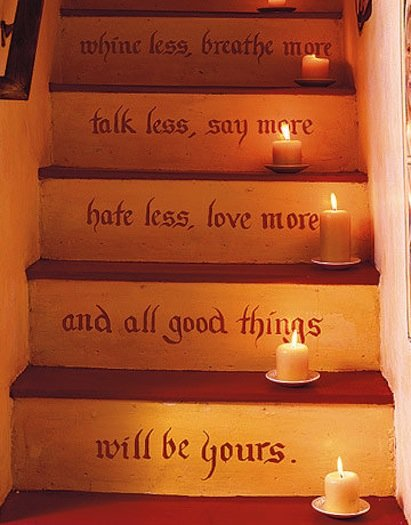 Stairs with a message! Source