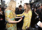Young starlets Elle Fanning and Elizabeth Olsen shine on the carpet.