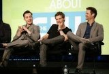 Ed Westwick, Joseph Morgan, and Shane West