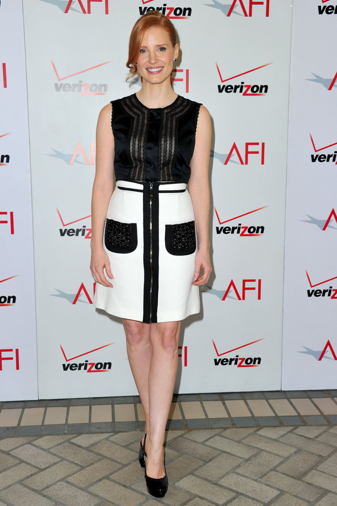 The Help's Jessica Chastain at the AFI Awards.