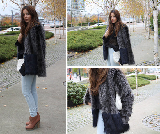 Two -Toned Faux Fur