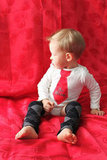 """Be Mine"" Tie Onesie and Leg Warmers Set ($32)"