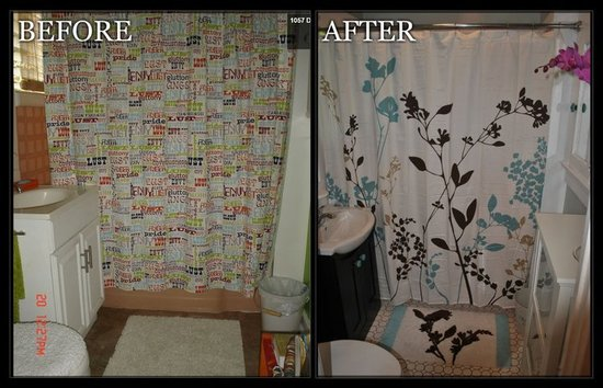 Our bathroom Makeover Before & After