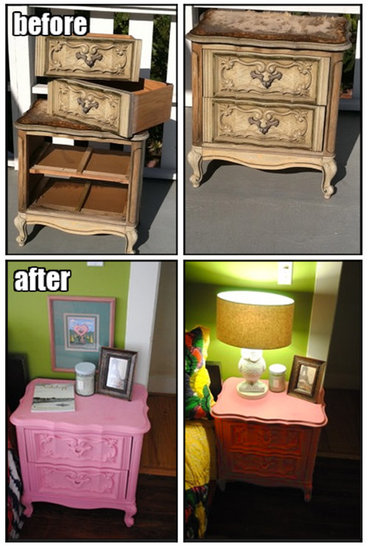 DIY Trash-to-Treasure Bedside Table