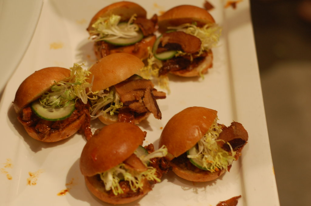 Pork sliders seemed to be the theme of the night with several different varieties being offered.