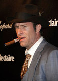 Thomas Jane pulled out a cigar on the red carpet at the Weinstein Company's after party.