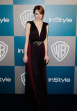 Emma Stone in Lanvin at InStyle's Golden Globes afterparty.