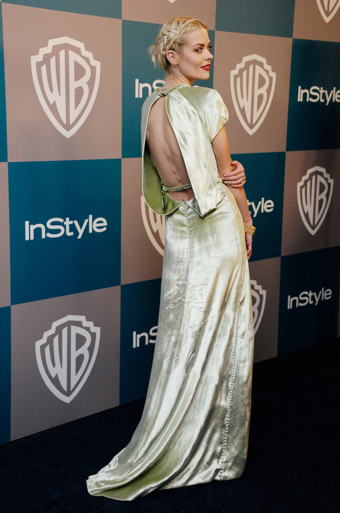 Jaime King showed off the back of her dress.