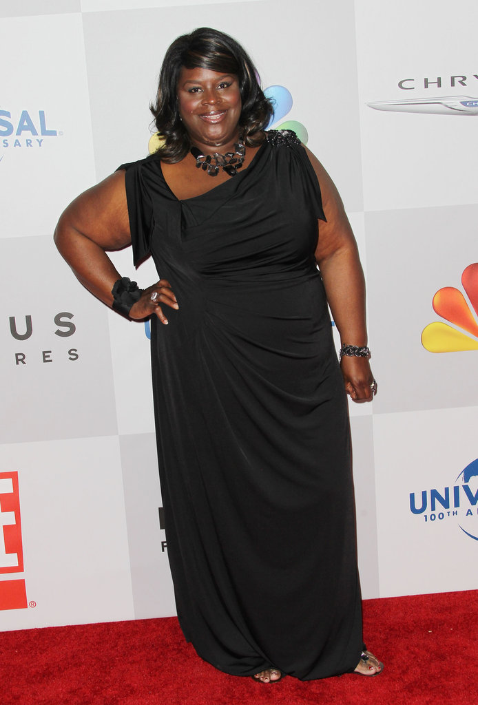 Retta posed on the NBC red carpet.
