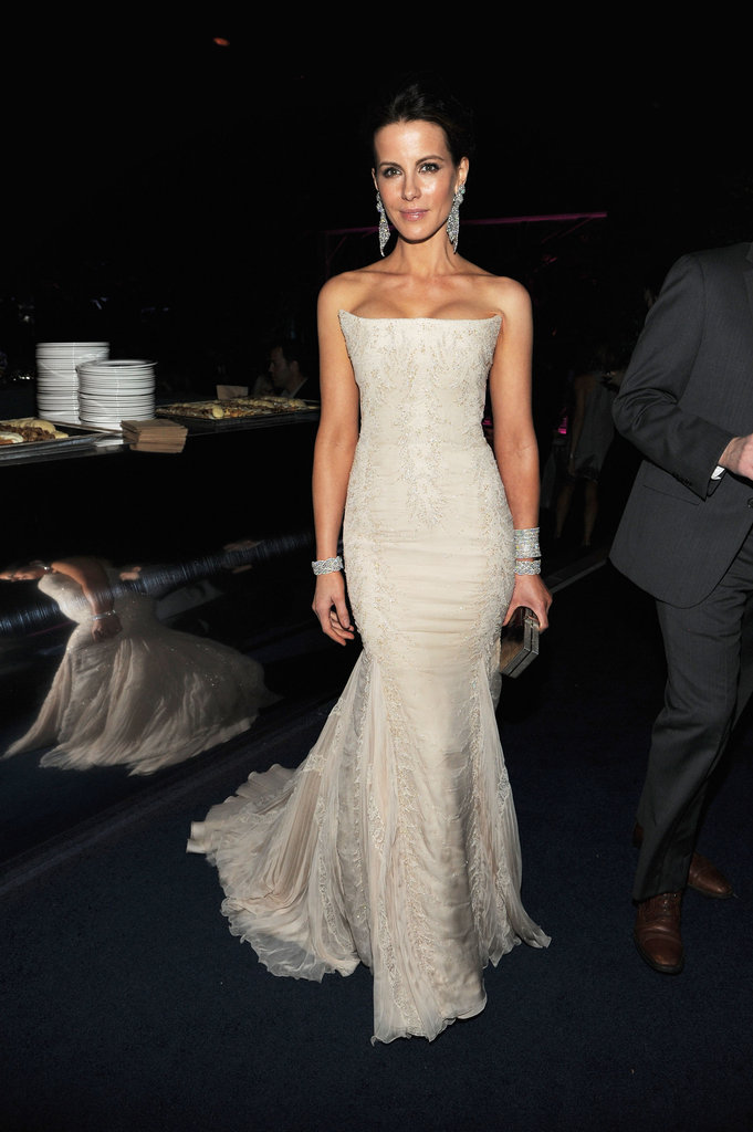 Kate Beckinsale posed in her Roberto Cavalli gown.