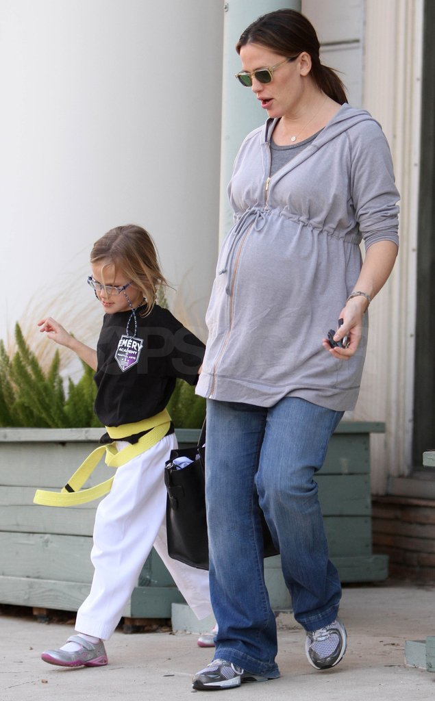 Jen and Violet held hands leaving the karate studio.