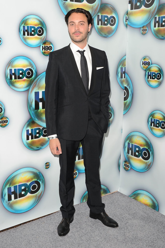 Jack Huston arrived at HBO's post-Golden Globes party.