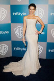 Kate Beckinsale brought her tube top dress to InStyle's Golden Globes afterparty.
