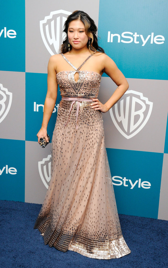 Jenna Ushkowitz at InStyle's Golden Globes afterparty.