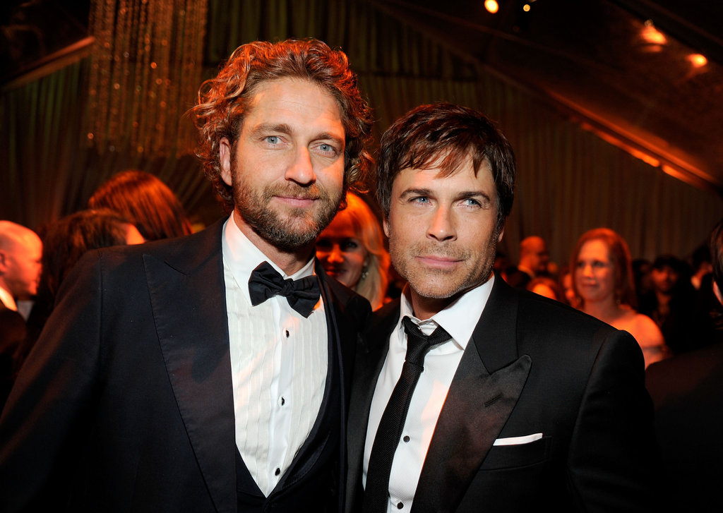 Gerard Butler and Robe Lowe at the Golden Globes after party hosted by the Weinstein Company.