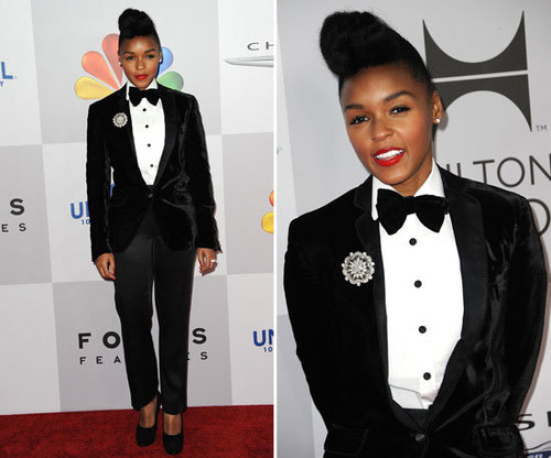 Janelle Monae at Golden Globes Afterparty 2012