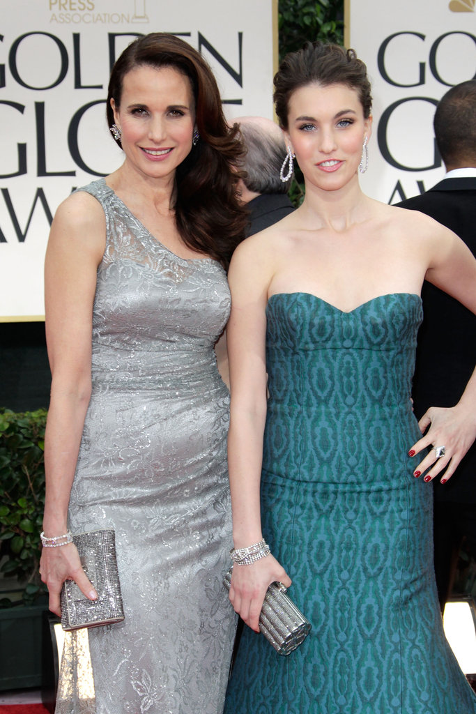 Like mother, like daughter: Andie MacDowell and her daughter Rainey Qualley look super glam at the Golden Globes.