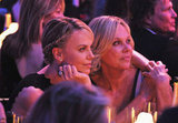Charlize Theron cozies up to her mom Gerda Maritz at the Critics' Choice Awards.