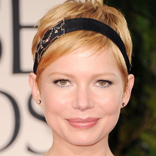 Michelle Williams' 2012 Golden Globes Hair and Makeup Look