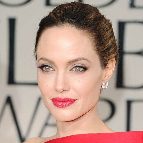 Angelina Jolie's 2012 Golden Globes Hair and Makeup Look
