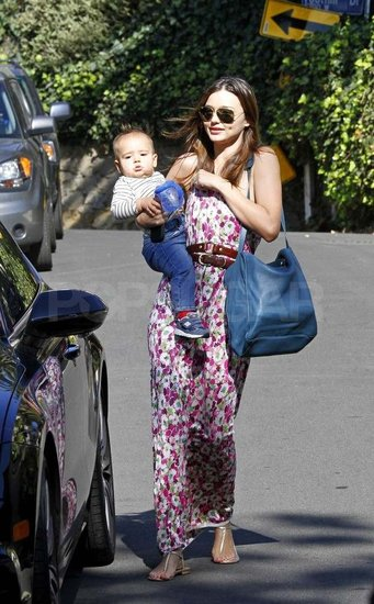 Miranda Kerr and Flynn leave a playdate.