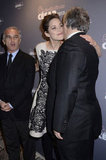 Marion Cotillard was affectionate with friends in Paris.